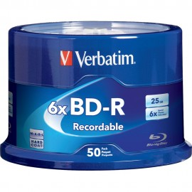 BD-R Blu-ray 6x 25GB Branded 50pk Spindle