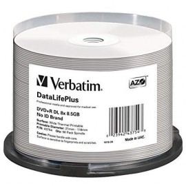DVD+R Double Layer 8x 8.5GB White Thermal Hub Print (Everest - Teac P55) 50pk Spindle