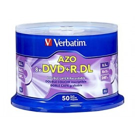 DVD+R Double Layer 8x 8.5GB Branded Surface 50pk Spindle/200 Case