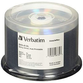 DVD+R Double Layer 8x 8.5GB DataLifePlus Shiny Silver Silk Screen Thermal Print 50pk Spindle/200 Case
