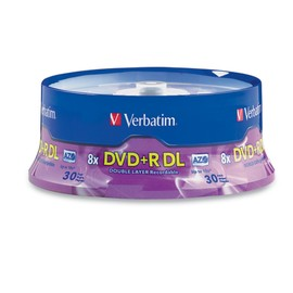 DVD+R Double Layer 8x 8.5GB Branded 30pk Spindle