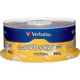 DVD+RW 4x 4.7GB Branded 30pk Spindle/180 Case
