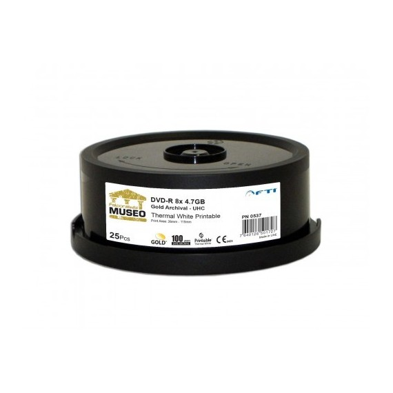 AAA Gold Archival Grade DVD-R 8x 4.7GB White Thermal Print 300pk Case
