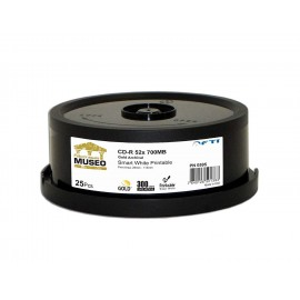 AAA Gold Archival Grade CD-R 52x 700MB White Thermal Print (Everest - TEAC P55) 300pk Case