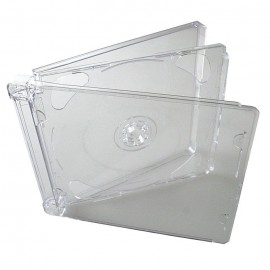 2-Disc Slim Jewel Cases Clear Tray 10.4mm 200pk