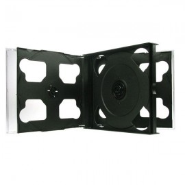 6-Disc Chubby Jewel Cases Black Tray 22mm 100pk