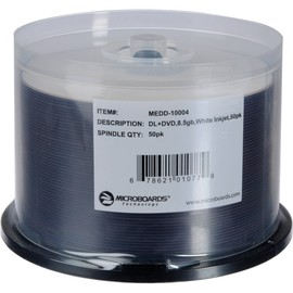 DVD+R Double Layer 8x 8.5GB White Inkjet Hub Print 300pk Case