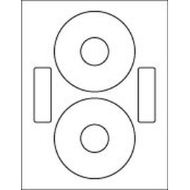 """2-UP CD Label: 4.65 Diameter (Neato) Gloss White, Laser, Permanent 100 Sheets / 200 Labels"""""""